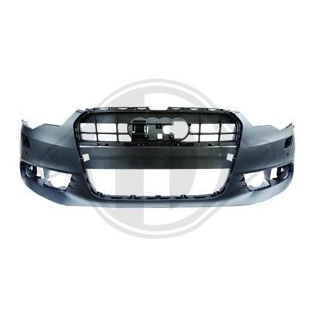 Pare chocs avant Audi A6 2010 à 2014 AVEC RADAR / SANS gicleur lave phare